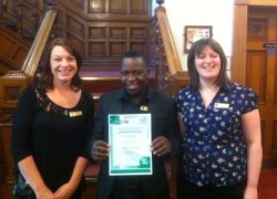 The Austen Ward team with their AIMS certificate.