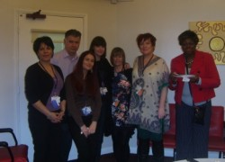 More of the Beckton team enjoying their tea party celebrating the Investors in People Bronze award