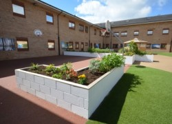 The improvements to Cygnet Hospital Bierley's courtyard was praised by the review team.