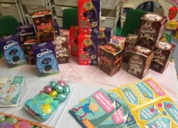 Easter Eggs collected by the service users of the Wyvern Unit