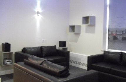 Part of the lounge area in the new flatlet at Cygnet Lodge Brighouse.