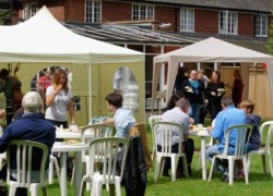 After a wet start the sun came out at lunch time at the annual Cygnet Hospital Harrow Fun Day