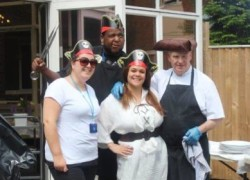 The Cygnet Hospital Harrow catering team dressed up as the Pirates of the Caribbean
