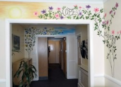 Part of the new mural at Cygnet Lodge Kenton.