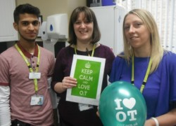 The OT team at Cygnet Hospital Wyke celebrating Occupational Therapy Week 2015