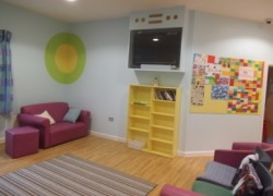 Parkview First's communal TV lounge