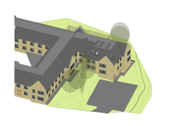 An architects plan of how the extension to Cygnet Hospital Wyke will look.