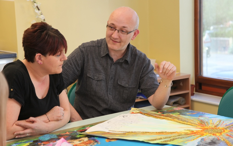 Art therapy at Cygnet Hospital Bierley