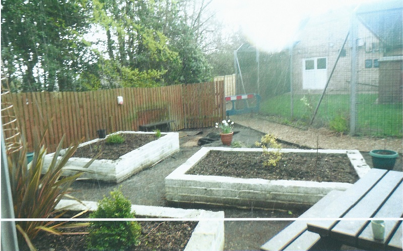 The garden before the project started