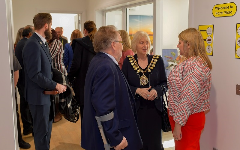 Guests, including the Mayor of Barnsley, were given a tour of Cygnet Pindar House